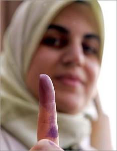 Iraqi woman voter