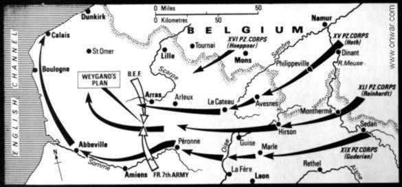 The ACTUAL course of German forces