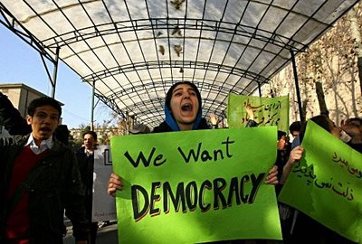 iran students protests in teheran dec 7 2008
