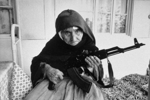 Armenian woman 106 with machinegun